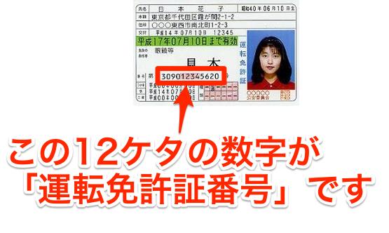 運転免許証番号